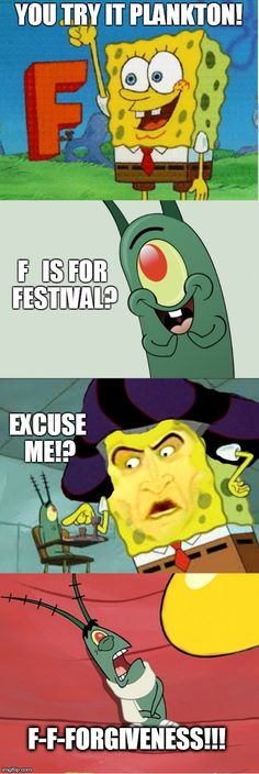 Spongebob and Disney crossover meme! Hunchback of Notre Dame ~ Spongebob as Frollo and Plankton as Quasimodo... I love it.