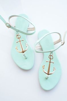 Anchor Round Head Sandals