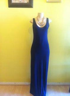 $48 Navy Blue Longer Length maxi  Dress