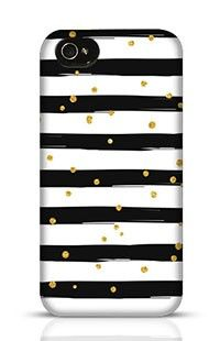 Gold Glittering Confetti Seamless Pattern Apple iPhone 4 Phone Case