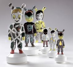 The Guest, a singular character from the Spanish artistic porcelain brand conceived by Jaime Hayon for Lladró Atelier.