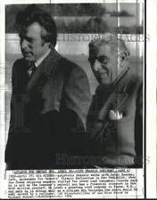 EVGENIA GL 1974 Aristotle Onassis with Peter Booras, spokesman Onassis Olympic