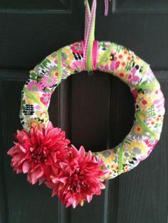 Flower Burst All Season or Spring Wreath by PolkadotsOriginals
