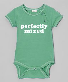 Look at this #zulilyfind! Teal 'Perfectly Mixed' Organic Bodysuit - Infant #zulilyfinds