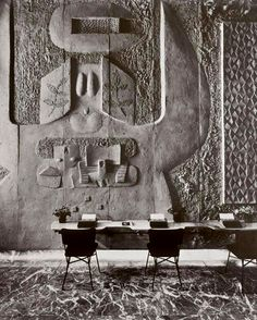 wall-relief-costantino-nivola-475x592 Wall Relief Brutalist–Olivetti Showroom, NYC by Costantino Nivola 1954