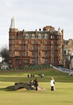 Playing at the St. Andrews Golf Course. [ ForeNShore.com ] #course #golf #relax