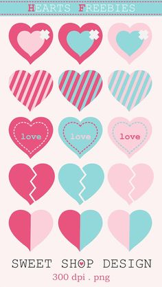 Hearts Freebies