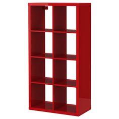 IKEA - KALLAX, Étagère, ultrabrillant rouge, , Se place à la verticale ou à l'horizontale et fait office de bibliothèque ou de buffet.