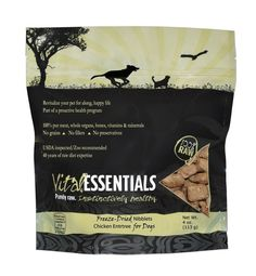Vital Essentials 100% Freeze-Dried Raw Chicken Niblets Entree for Dogs, 4oz -- You can find more details by visiting the image link. (This is an Amazon affiliate link)