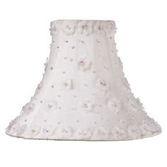 Petal Flowers Medium Size Clip-On Chandelier & Sconce Shade, White