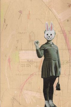 Part of the Imaginary Friends series by Danielle Hession www.daniellehession.com #art #collage