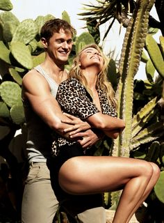 "Going Native - ""We have something like a brother-sister vibe,"" says Robbie of her rapport with Skarsgård. ""We're always joking and goofing around."" On Robbie: Equipment pajama shirt. Eres swimsuit. On Skarsgård: Calvin Klein Underwear tank top. Save Khaki United trousers (worn throughout)."