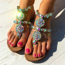 Exkluzívne kožené sandálky