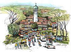 James Richards Sketchbook: Kenya: A Transformational Experience City Sketch, Man Sketch, Architecture Sketchbook, New Architecture, Travel Sketchbook, Art Sketchbook, James Richards, Building Sketch, Urban Sketchers