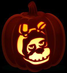 Bonnie five nights at freddy's pumpkin Halloween Pumpkins, Fall Halloween, Halloween Crafts, Halloween Decorations, Halloween Ideas, Halloween Costumes, Pumkin Carving, Pumpkin Carving Patterns, Pumpkin Stencil