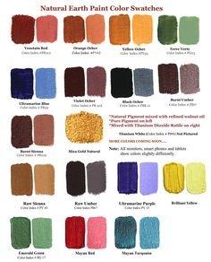 Non-toxic and high quality Natural Earth and Mineral Pigments. The non-toxic and high quality Natural Earth and Mineral pigments are available in 2 different sizes. (approx and 1 lb (approx The pigments are packed in biodgradable Tinta Natural, Different Types Of Painting, Clay Minerals, Titanium Metal, Earth Pigments, Tadelakt, Green Earth, Linseed Oil, Bright Purple