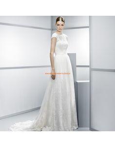 Elegante Kurz-Ärmel Brautkleider aus Spitze Vestidos de novia - Jesús Peiró