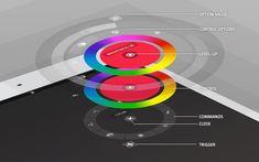 concept diagram color menu nav interface