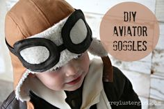 Kids Aviator Costume with DIY Pilot Goggles