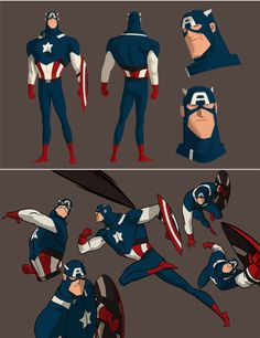 Note: Kris Anka dreams up a Captain America animated series. Here's what Kris Anka had to say about his designs: So the basic premise I had when I approache… Marvel Comics, Hq Marvel, Marvel Heroes, Character Design Animation, Character Design References, Comic Character, Character Concept, Concept Art, Comic Books Art