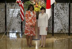 U.S. first lady Michelle Obama (L) meets with Akie Abe, wife of Japan's Prime Minister Shinzo Abe, before an event discussing education for girls at the Iikura Guest House in Tokyo March 19, 2015. Michelle Obama flew in to Japan on Wednesday for a three-day visit as part of the Let Girls Learn international girls education initiative.  REUTERS/Issei Kato via @AOL_Lifestyle Read more…