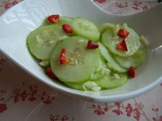 Shanghai Cucumber Salad from Food.com: I was looking for a copycat recipe of the Shanghai Cucumbers that you can get at PF Chang's and I ran across this one on another website. I hope it's close!