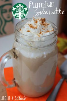 Copycat Starbucks Pumpkin Spice Latte with Pumpkin Syrup