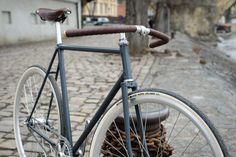 My bike for Prague:). Old Cczech Favorit recycled. 2-speed / Brooks saddle / Brooks leather bar tape / Schwalbe tires / Sturmey Archer parts.