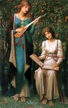 'When Apples were Golden and Songs were Sweet' by John Melhuish Strudwick