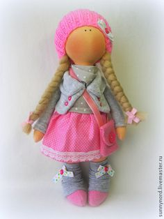 Человечки ручной работы. Ярмарка Мастеров - ручная работа Текстильная кукла Марта.. Handmade. Doll Crafts, Diy Doll, Raggy Dolls, Clothes Pegs, Mermaid Dolls, Bear Doll, Doll Tutorial, Doll Maker, Soft Dolls