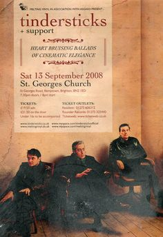 Tindersticks - St. Georges Band Photography, Saint George, Music Bands, Music Artists, Album Covers, Musicals, The Outsiders, Paris, Movie Posters