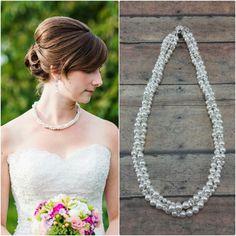 Wedding Jewelry Pearl Wedding Necklace Handmade by Amanda Badgley Designs
