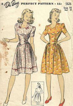 DuBarry 5626 / Vintage 40s Sewing Pattern / door studioGpatterns