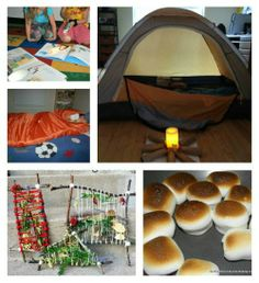 What a great idea for a winter's day -- kids will love this creative twist on the traditional camp-out!