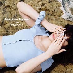 American Apparel × EMODA - イメージモデルはemma