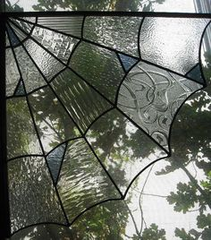 I want to make this one.....Stained Glass Spider Web