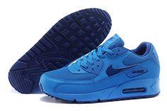 Nike Air Max 90 Womens Mens Shoes Hyperfuse All Blue - Air Max