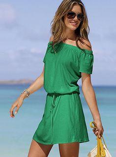Victoria's Secret Off-the-shoulder tee dress $29.50