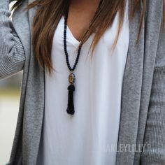 Personalized Tassel Necklace | Marleylilly