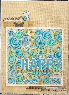 Layers of ink - Stamped Blue Flowers with ink and colored pencils tutorial by Anna-Karin Evaldsson. Made with Simon Says Stamp Let's Connect products. Design Tape, Colored Pencil Tutorial, Simon Says Stamp Blog, Art Journal Pages, Art Journaling, Distress Oxide Ink, Ink Stamps, Flower Backgrounds, Art Journal Inspiration