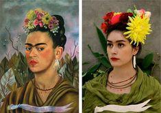 remake fotografia y pintura - BúsquedadeGoogle Tableaux Vivants, Frida And Diego, Famous Portraits, Classic Portraits, Photo D Art, Art Costume, Classic Paintings, Expo, Art Plastique
