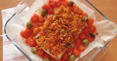 La cucina delle streghe: Filetti di merluzzo panati con pachino e basilico Bruschetta, Vegetables, Ethnic Recipes, Food, Essen, Vegetable Recipes, Meals, Yemek, Veggies