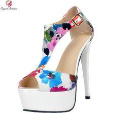 Click to Buy    Original Intention Fashion Women Sandals Popular Peep Toe  Thin.    b3d9a123a5dc