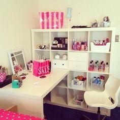 cool teen girl desk organization ideas - Google Search...