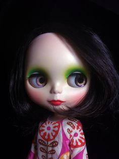 8 Kinder Blythe Natural Custom Cute Black Cute Bob Hair Gentle River Make Up | eBay