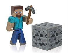 Buy Minecraft Steve Action Figure at Mighty Ape Australia. Take your adventures in the popular Minecraft video game from the digital to the real world! This Series 1 Minecraft Core Steve Action Figure with Acc. Steve Minecraft, Minecraft Video Games, Minecraft Toys, Minecraft Party, Minecraft Blocks, Cake Minecraft, Minecraft Crafts, Minecraft Stuff, Toys R Us