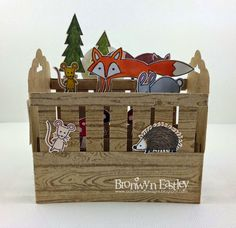 addINKtive designs: Card in a Box - Baby Crib Tutorial