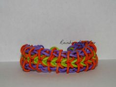 Rainbow Loom Zipper Bracelet