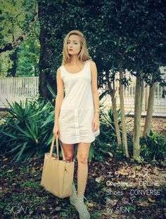 SHOES:CONVERSE BAG:SLY ONEPIECE:CELINE CELINE converse sly