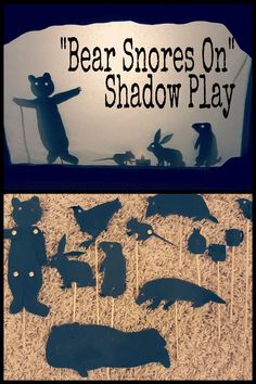 Hands on activities and creative presentation ideas including a shadow play presentation. Hands On Activities, Learning Activities, Preschool Learning, Teaching, Kindergarten Classroom, Kindergarten Activities, Bear Theme, Shadow Play, Groundhog Day